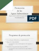 Protección de Las Aguas Subterráneas
