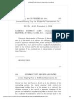 5. Lorenzo Shipping Corp. vs. BJ Mathel International Nov. 19, 2004