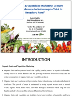 organic fruits and vegetables marketing