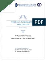 Práctica 3 Turbidimetría y Nefelometría