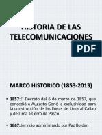 Historia d e Las Telecomunicaciones