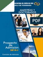 _Prospecto.Admision.Posgrado-2014-[UNCP] UNMSM