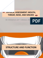 Physical Assessment Mouth Throat Nose