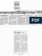 Manila Bulletin, Mar. 6, 2019, DA expects surge in 2020 budget to at least P490B.pdf