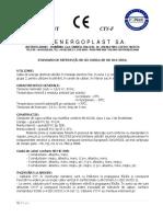 Fisa Tehnica CYY(-F) Energoplast