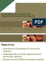 Principles of Community Medicine