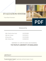 Web Based Faculty Evaluation System