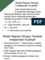 Regresi Variabel Independen Kualitatif