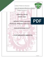 Química Aplicada Contaminación Ambiental