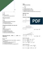 Fórmulas Resistencia de Materiales