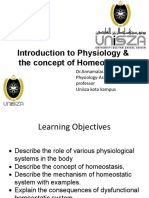 Introduction to Physiology and Concept of Homeostasis