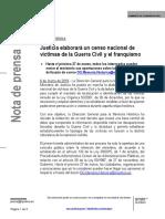 Justicia Elaborará Un Censo Nacional de Víctimas de La Guerra Civil y el Franquismo
