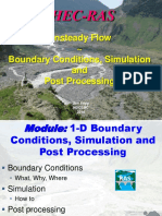 HEC RAS MODELING 1-D BOUNDARY CONDITIONS , POST PROCESSING