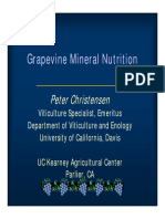 Grape Mineral Nutrition