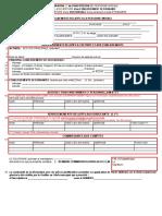 Exemplaire Du Formulaire RCCM MO