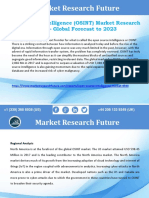 Open Source Intelligence Market 2023 by Scope, Size, Opportunities and Growth Rate analysis