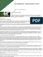 Derecho Deportivo. Tribunales Disciplinarios. Justicia Deportiva_ Puntos de Partida – AL DÍA _ ARGENTINA