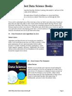 2018 Thirty Best Data Science Books