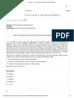 Colaborar - Av1 - Psicologia Da Educação e Da Aprendizagem