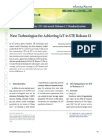 New Technologies for Achieving IoT in LTE Release 13
