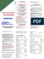 Modalidades de acceso a la UAJMS