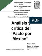 Análisis y Crítica Del Pacto Por México.