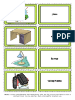 Office Esl Vocabulary Game Cards for Kids