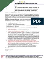 Dispute Letter SEP 30 2016
