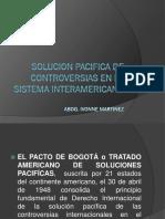 Solucion Pacifica de Controversias en El Sistema Interamericano
