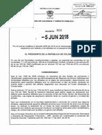 Decreto 959 del  5 de Junio de 2018