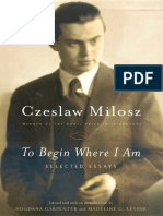 MIlosz, Czeslaw - To Begin Where I Am (2001, FSG).pdf