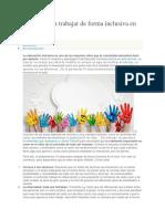 10 Ideas Para Trabajar de Forma Inclusiva en El Aula