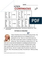 present cotinuous tense practice 2