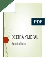 DE ÉTICA Y MORAL 2 Escuelas éticas