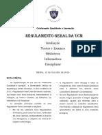 Regulamento geral UCM