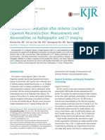 Postoperative Evaluation After Anterior Cruciate