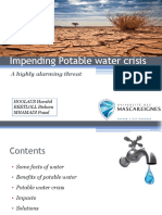 Impending Potable Water Crisis Harshil