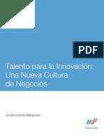 Talento para la Innovación  Una Nueva Cultura de Negocios
