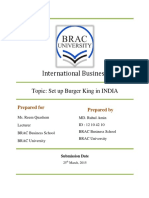 Franchising of Burger King in India