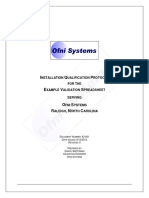 Installation Qualification for Informatic System Example