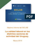 SICLAB - Séptimo Informe - Calidad Laboral Por Sector de Actividad - 2019 03