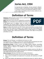 Factories Act - Presentation