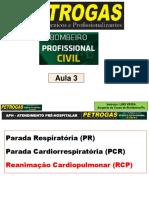 Aula 3 - Parada Cardiorrespiratória PCR E RCP - 49 Slides
