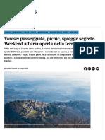 Passeggiate Varese