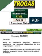 ATENDIMENTO PRÉ-HOSPITALAR - Aula 12 - EMERGÊNCIAS CLÍNICAS - 76 SLIDES EM PDF