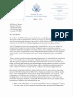 Rep. Ken Calvert Letter to Riverside County Registrar of Voters Rebecca Spencer