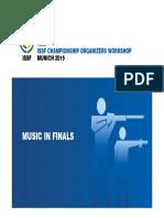 13th ISSF Workshop 2015 - 23 - Music in Finals