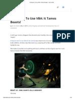 3 Reasons to Use VBA_ It Tames Beasts! - Oz Du Soleil