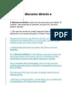 Discurso Directo # Discurso Informado