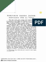 Porfirio Barba Jacob, Nostalgia Por La Vida, Kurt Levy